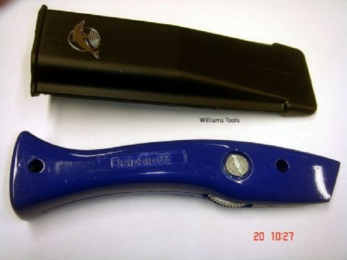 Genuine Original BLUE Delphin Dolphin Knife Handle & Holster Carpet Tool